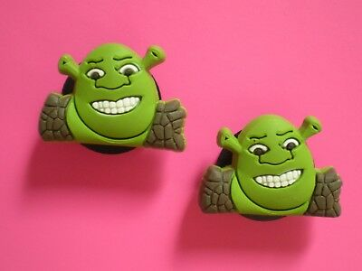 Clog Shoe Button Charm For Jibbitz Accessories Jewelry Bracelet Wristband SHREK  - Shrek Accessories