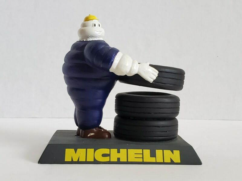 Vintage Michelin Man Bibendum Tires Pencil Pen Holder Figurine Rare Desktop