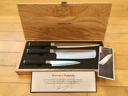 Kamikoto Kanpeki Knife Set with Wooden box and certificate - New