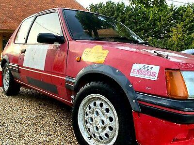 Barn Find Rare non-sunroof Peugeot 205 Gti Rally Car Track Hillclimb plus wheels