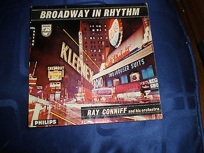 """RAY CONNIFF - BROADWAY IN RHYTHM - RARE 1958 PHILIPS 7"""" E.P. - EXC."""