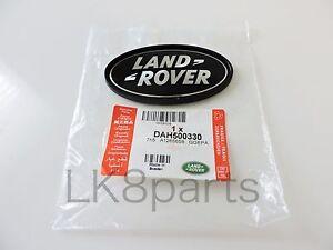 Range Rover Sport Supercharged Tailgate Emblem Black Land Rover Logo Oval Badge