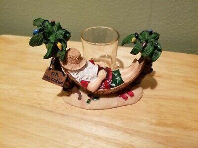 Yankee Candle Christmas Santa Vaca. Votive Holder Hammock Decorated Palm Trees