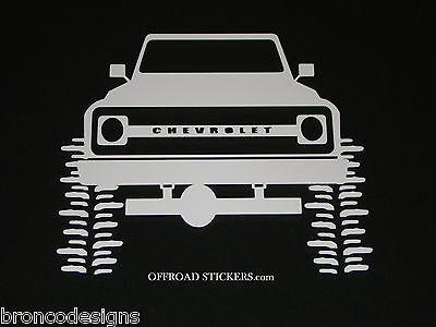 67-72 Chevy Chevrolet Truck_Blazer k5_Decal/Sticker (Chevy Blazer Decals)