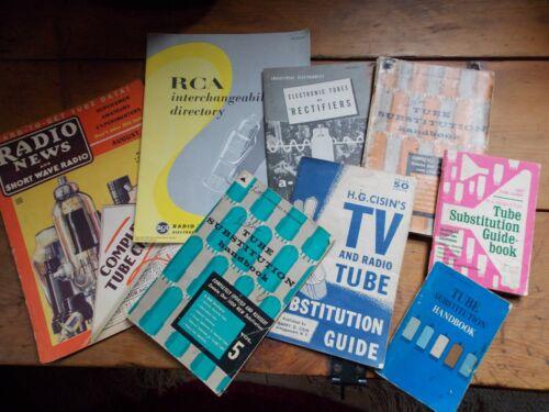 Vintage Radio & TV tube handbooks