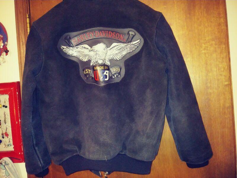 Harley Davidson Leather Jacket. Youth Size 14