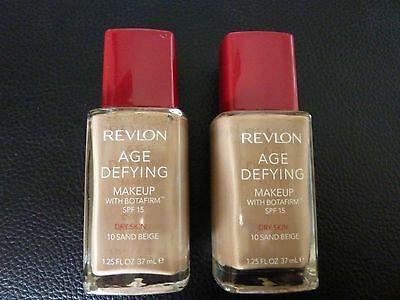 Revlon Age Defying Liquid Makeup/Foundation - SAND BEIGE #10- For DRY Skin- TWO
