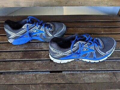 Brooks GTS 17 Seventeen Men's Lace-Up Blue Silver Running Shoes Sz 12, FAST SHIP