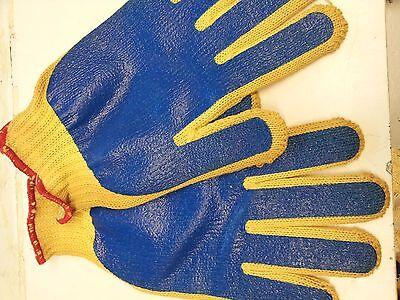 Goldknit Ansell 70-208 Blue Pvc Palm Coating Size 9 Gloves Med Wgt