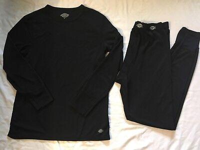 Mens Dickies Black Top Pants Base Layers Sz M Medium