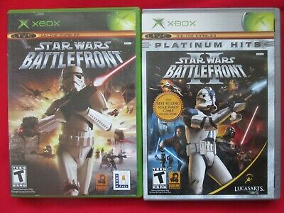 Star Wars Battlefront 1 and 2 CIB Manuals AuthenticOriginal Xbox