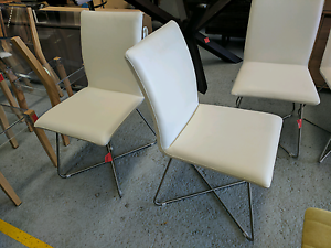 Leather and Stainless Steel Dining Chairs - 50% off the RRP Epping Whittlesea Area Preview