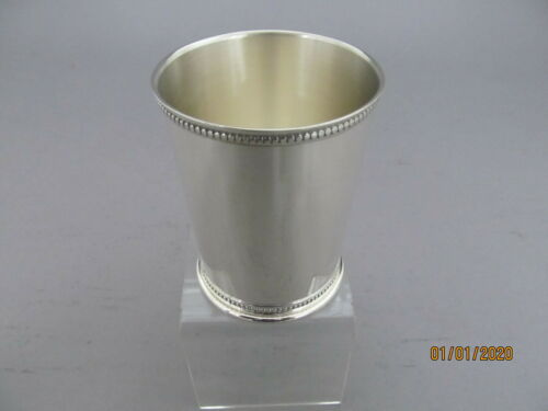 STERLING SILVER MINT JULEP CUP WITH BEADED BORDER - KY look alike