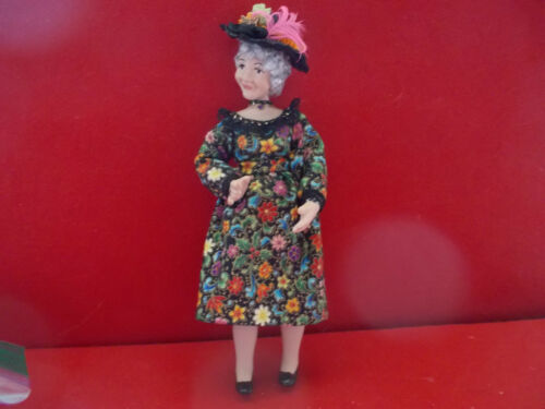 Dollhouse Doll 1:12 scale Elderly Garden Party Lady