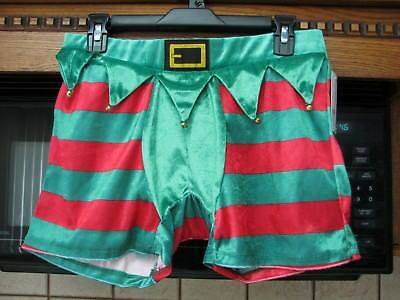 Elf Shorts Costume (Christmas Elf novelty costume underwear briefs shorts men's large new with)