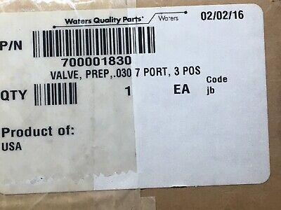 Waters Rheodyne Rv703-105 Pn 700001830 Valve Prep .030 7 Port 3 Pos