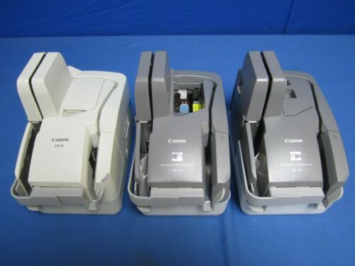 (Lot of 3) CANON ImageFormula CR-50 CR-55 Check Scanners