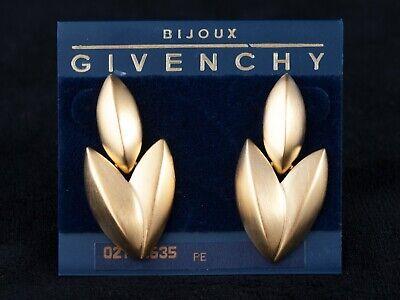 """Elegant Vintage Givenchy Signed """"Leaf"""" Earrings - Pierced"""