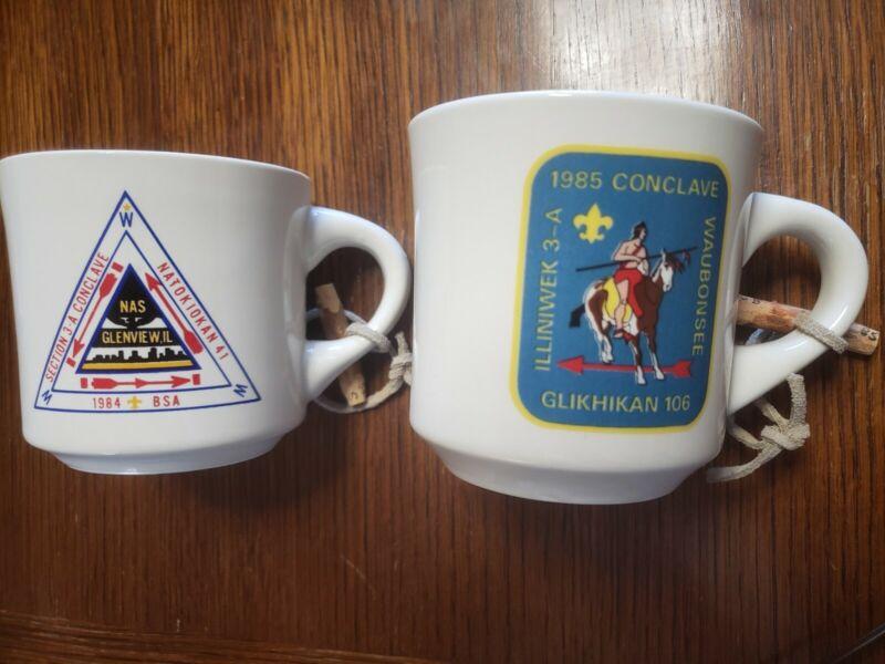 Vintage Collectible Boy Scout Conclave Mug Set
