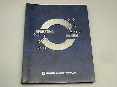 Yamazaki Machinery Works Operating Manual For Mazak Vertical Quality Center Vqc-