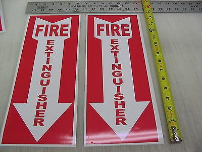 2 Lg Arrow Fire Extinguisher Sticker Decals Inspection Or Hose Alarm Smoke Fdc