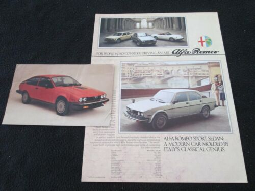 1977 1978 Alfa Romeo Sport Sedan Sprint & Spider Veloce Brochure Catalog Postcrd