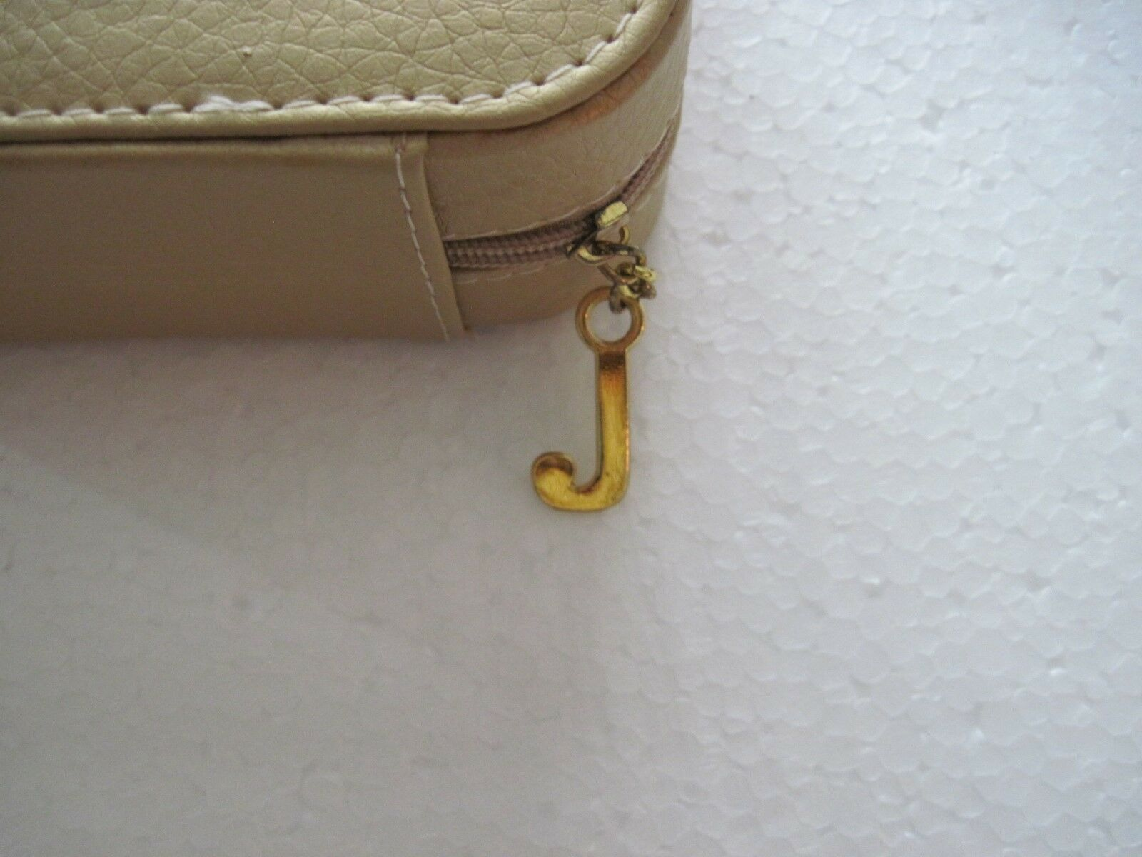 JUICY COUTURE Gold Colored Leatherette Travel Case, Zip Around, 5 1/4 X 4 1/4  - $11.50
