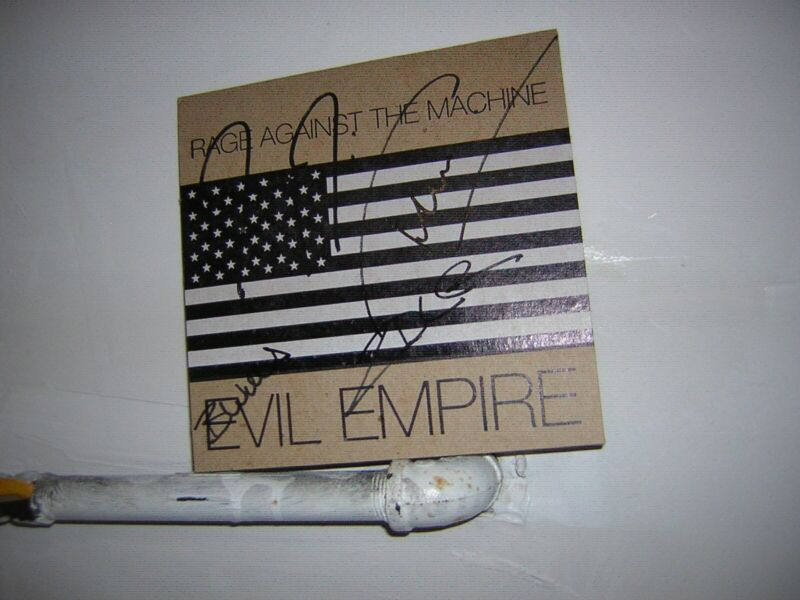 Rage Against The Machine Signed 45 Evil Empire By 4 Musicians