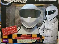 Wesco TOP GEAR: The Stig Helmet Projection Alarm Clock w/ Music- ~7 X 7- 2005