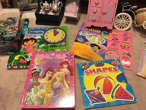 Toys and books for young girls