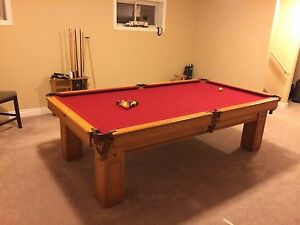 9 by 4.5 ft pool table. 1 in slate Kingston Kingston Area image 2