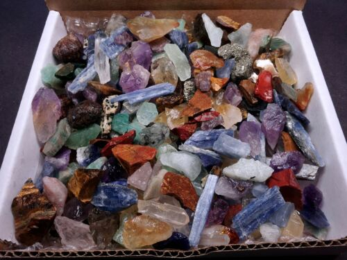 Crafters Collection Tiny & Small Stones 1 Lb Mix Box Set Natural Gems Crystals