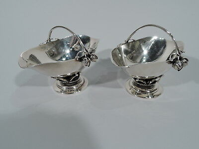 Georg Jensen Baskets - 235B - Hand Hammered Pair - Danish Sterling Silver