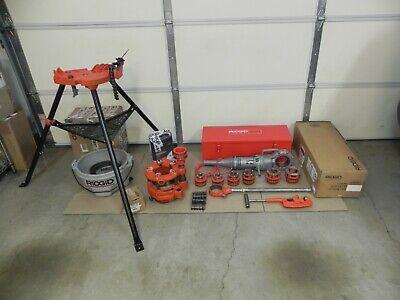 Ridgid 700 Power Threader 115v12r Set 12 - 2 Rigid 4pj Head Oiler Nice