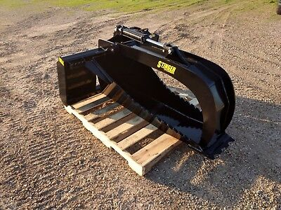 New Hd Stump Grapple 1.25 Cutting Edge .75 Side Cutting Teeth Deep Skid Steer