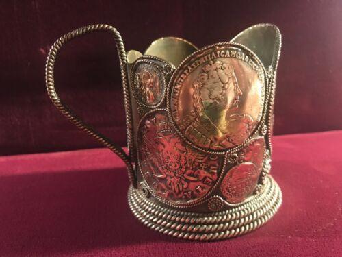 Original Imperial Russian Silver Plated Copper Trompe L