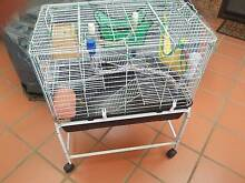 Used Rat/Guinea Pig/Mice/Mouse/Ferret cage with stand on wheels Eschol Park Campbelltown Area Preview