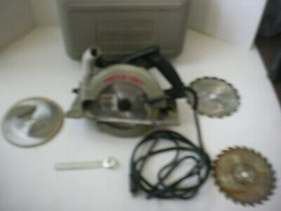 Porter Cable Model 743 Hd Left Blade 7 14 Circular Saw W4 Blades And Case