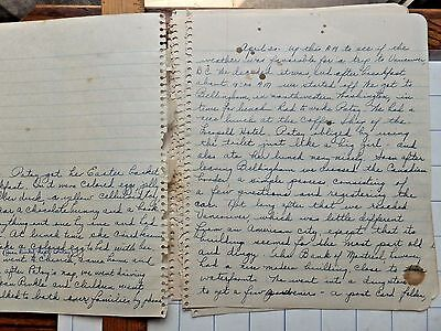 1947 Diary Pages from Officer's Wife in Seattle Area. Travel, Friends, Moving