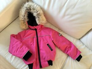 Canada Goose Pink Bomber for Kids Size 2-3