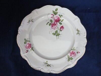 """Vintage Rosenthal Pompadour Courtship 10.25"""" Dinner Plate (s) Pink Roses Gold"""