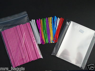 Pink Lollipop Sticks (50 X 6