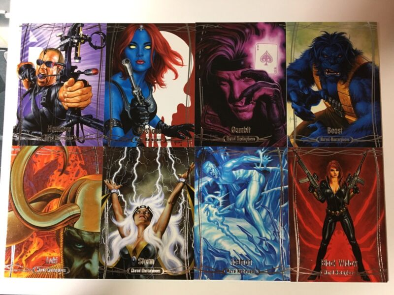 2016 Marvel Masterpieces Base Tier 2 Singles 37-63 X/1499 Complete Your Set!