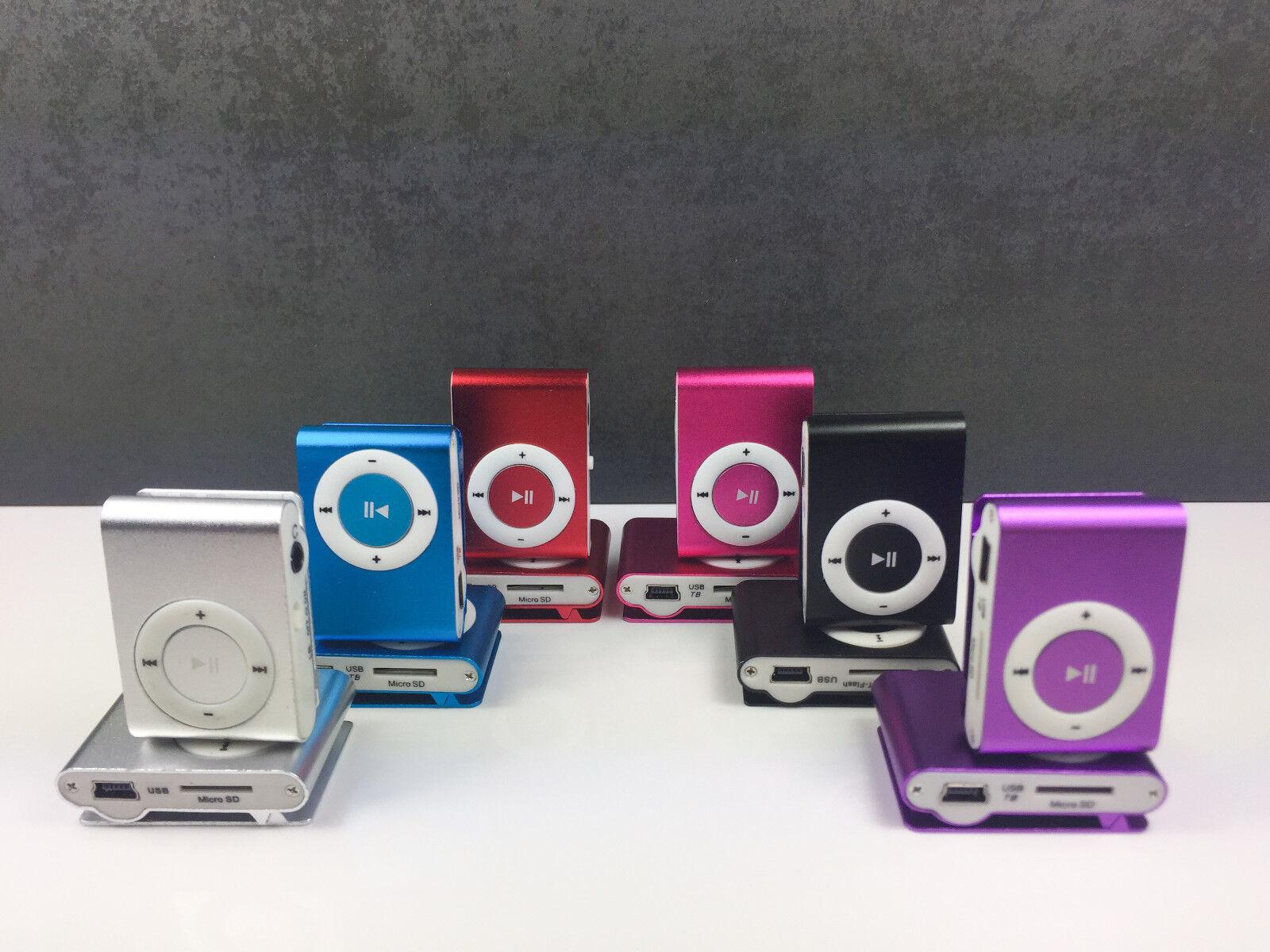 MP3 Player Clip Funktion tragbar stylish 6 Farben 3,5MM AUX Micro SD bis 32 GB !