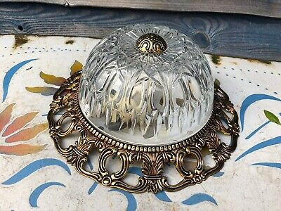Vintage Plaffonier Glass Ceiling Lamp Light