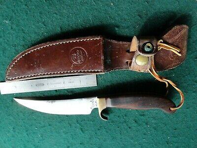 "Olsen Knife Co. 5 1/4"" blade, OK, Howard City, USA Made, W/Sheath"