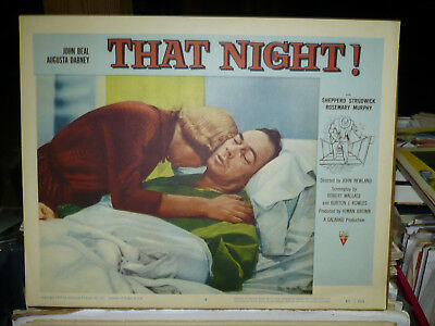 THAT NIGHT, orig 1957 LC #3 (John Beal, Rosemary - Beale Rosemary