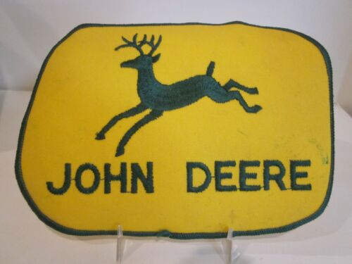 """VTG JOHN DEERE TRACTOR UNIFORM BACK PATCH EMBROIDERED GREEN ON TWILL 6 1/2"""" X 5"""""""