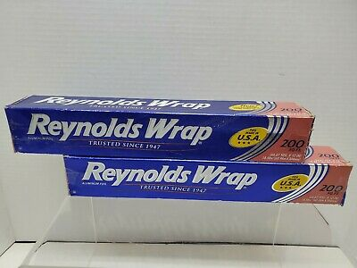 Pack Of 2reynolds Wrap Aluminum Foil 200 Square Foot Roll 200 Sq Ft