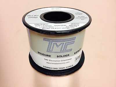 Tmc Solder Sn63pb37 .020 0.5mm Solder Wire .44lb 24-6337 Made In Taiwan